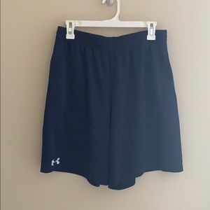 Under Armour Navy Athletic Shorts (Size L)